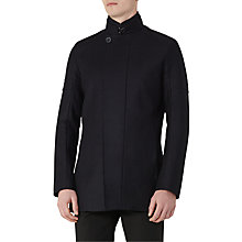Buy Reiss Force Funnel Collar Coat, Navy Online at johnlewis.com