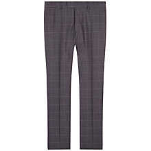 Buy Jaeger Windowpane Check Regular Fit Suit Trousers, Grey Online at johnlewis.com