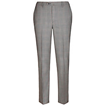 Buy Hackett London Italian Prince of Wales Check Super 120s Wool Suit Trousers, Grey Online at johnlewis.com