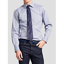Buy Thomas Pink Ackerman Texture Slim Fit Shirt, Navy Online at johnlewis.com