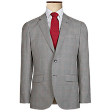Buy Hackett London Italian Prince of Wales Check Super 120s Wool Suit Jacket, Grey Online at johnlewis.com
