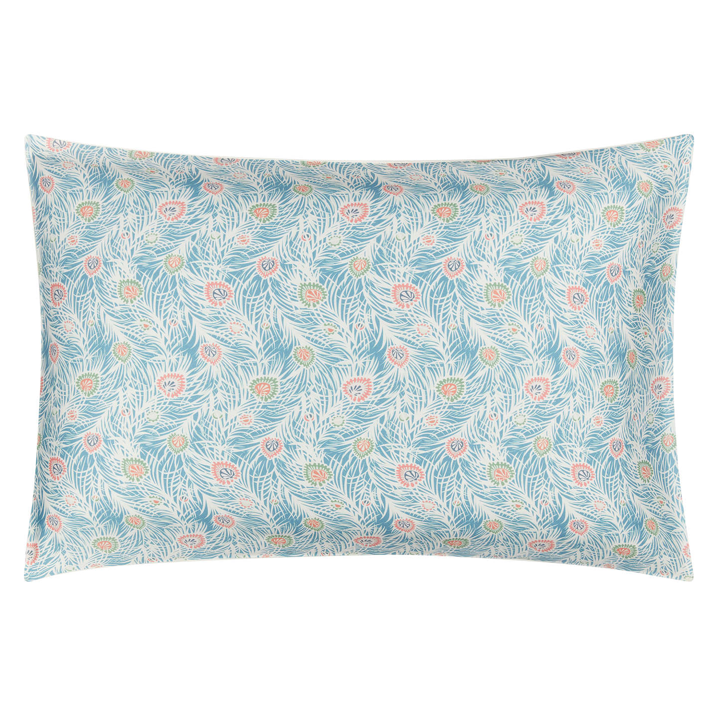 BuyLiberty Fabrics & John Lewis Goldman Print Cotton Duvet Cover, Super King, Mid Blue Online at johnlewis.com