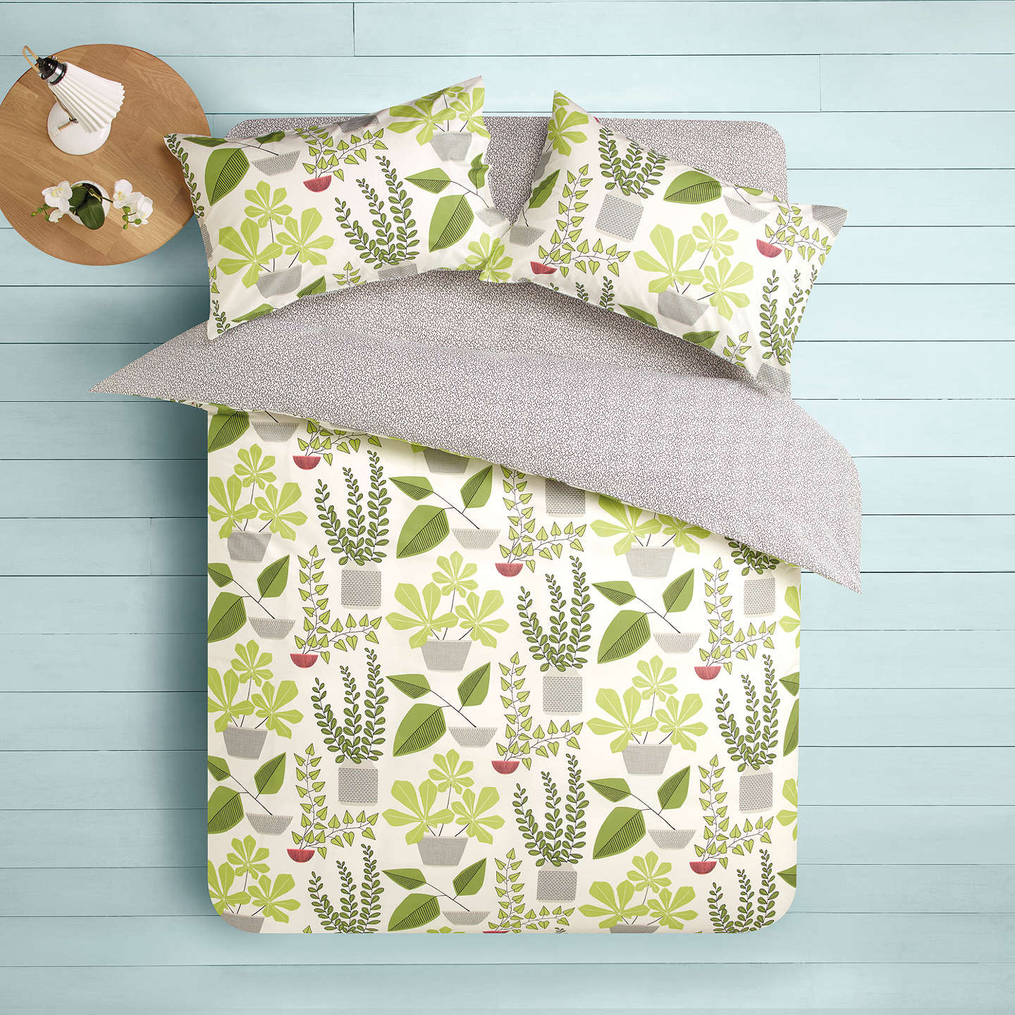 BuyMissPrint House Plants Duvet Cover and Pillowcase Set, Super King Online at johnlewis.com