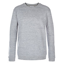 Buy Hamilton and Hare Melange Fleck Sweatshirt, Grey Online at johnlewis.com