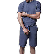 Buy Hamilton and Hare Terry Cotton T-Shirt, Cobalt Blue Online at johnlewis.com