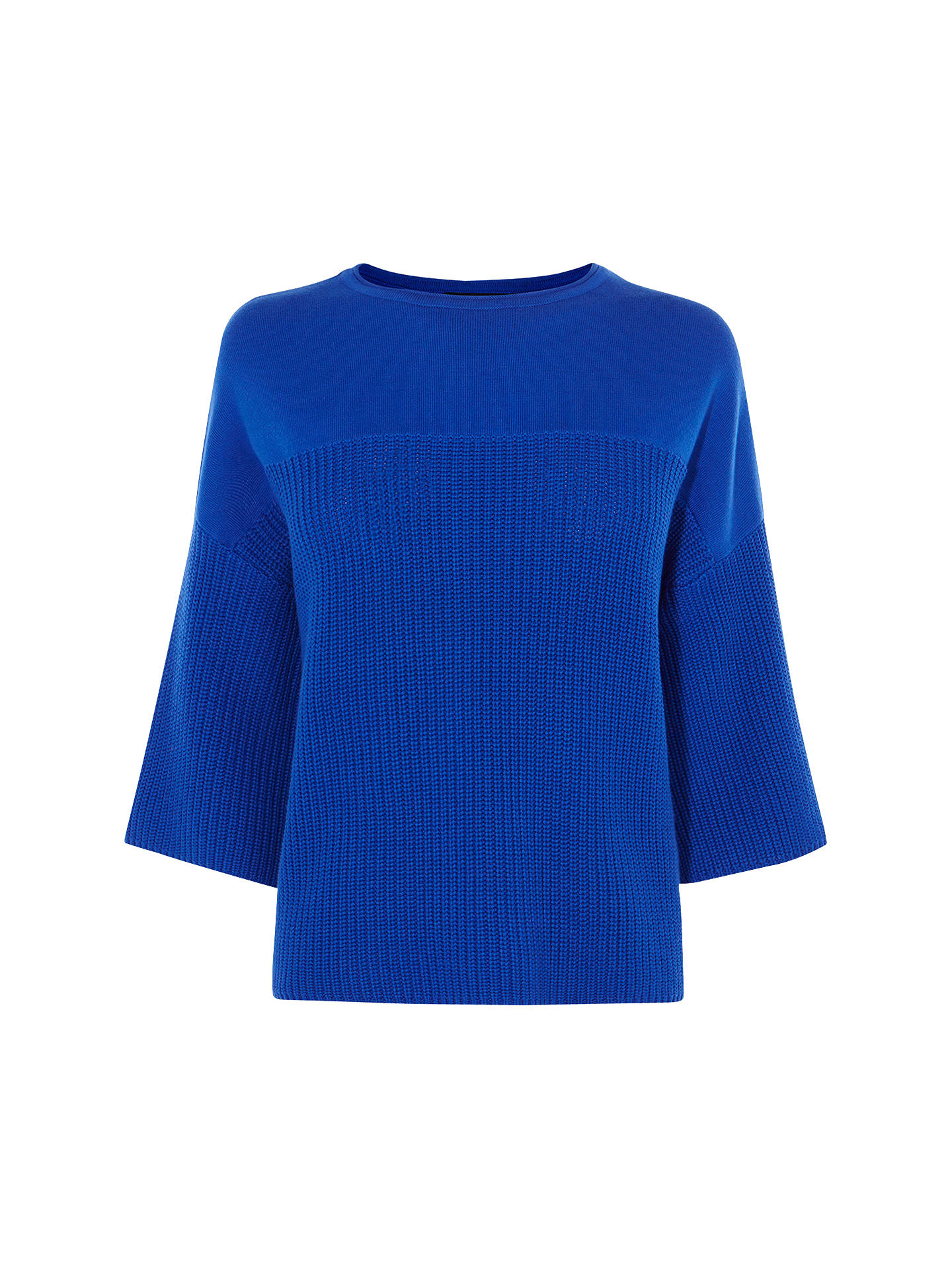 b8c13c341849e2 Buy Karen Millen Chunky Colourful Jumper, Blue, XS Online at johnlewis.com  ...