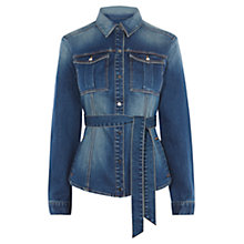 Buy Karen Millen Shirt Jacket, Dark Denim Online at johnlewis.com