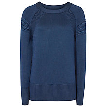Buy Reiss Ilah Cable Detail Jumper, Indigo Online at johnlewis.com