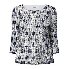 Buy Studio 8 Mindy Mesh Top, Navy/Ivory Online at johnlewis.com