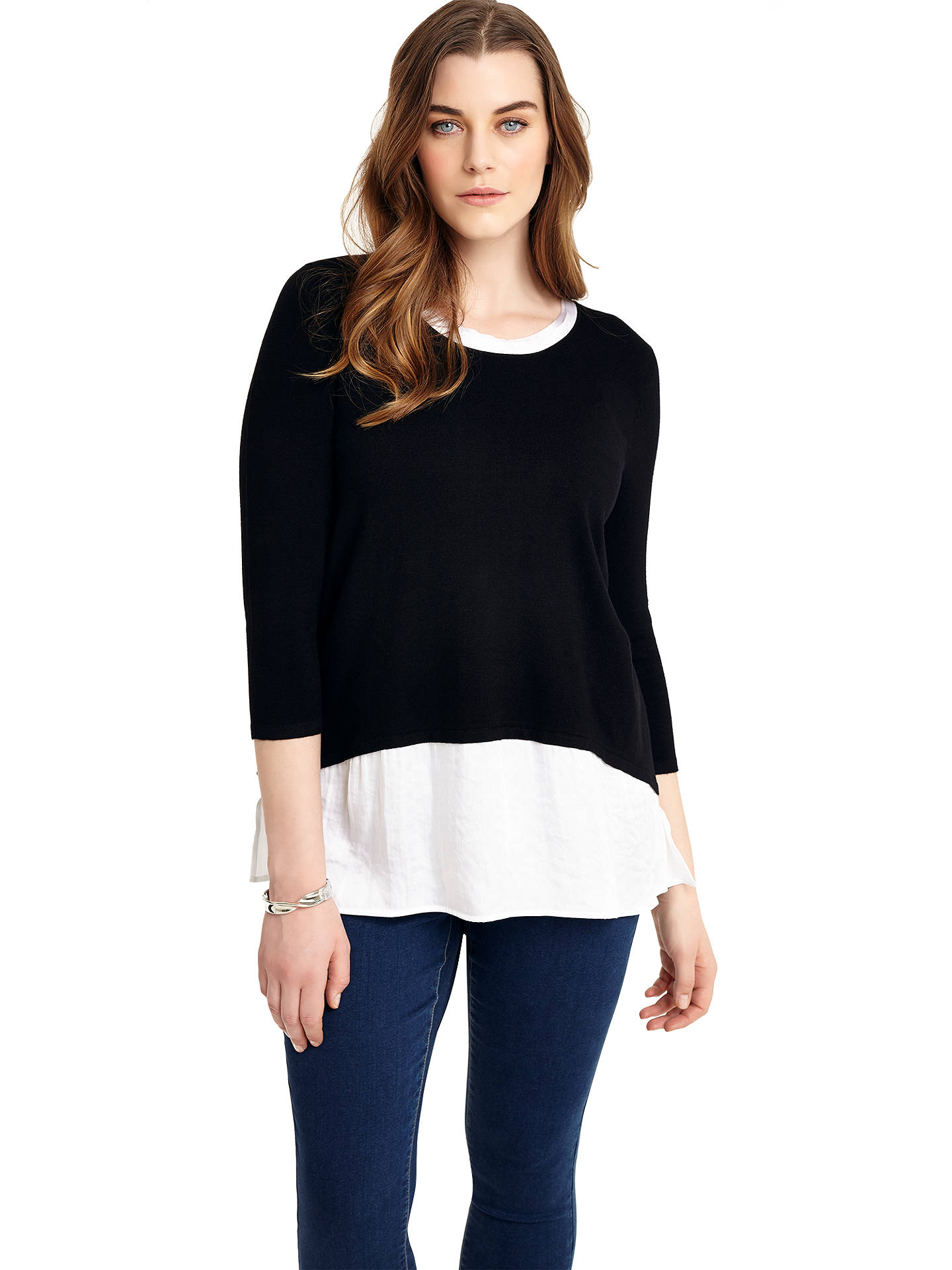 BuyStudio 8 Kassandra Top, Black/White, 12 Online at johnlewis.com