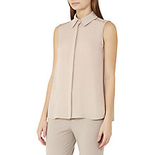 Buy Reiss Vera Sleeveless Silk Shirt, Chiffon Online at johnlewis.com
