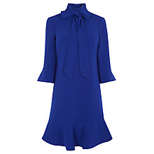 Buy Karen Millen Pussycat Bow Dress, Blue Online at johnlewis.com