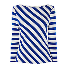Buy Karen Millen Fashion Ponte Roma Stripe Top, Blue/Multi Online at johnlewis.com