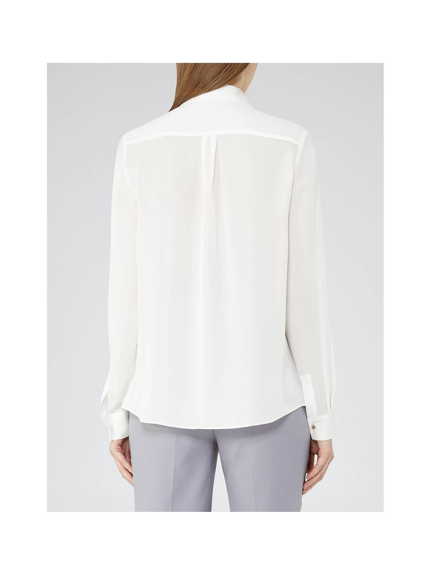 bc4975f3b33462 ... Buy Reiss Fleur Top, Off White, 6 Online at johnlewis.com ...