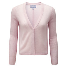 Buy Pure Collection Gracie V Neck Gassato Cardigan, Soft Oyster Online at johnlewis.com