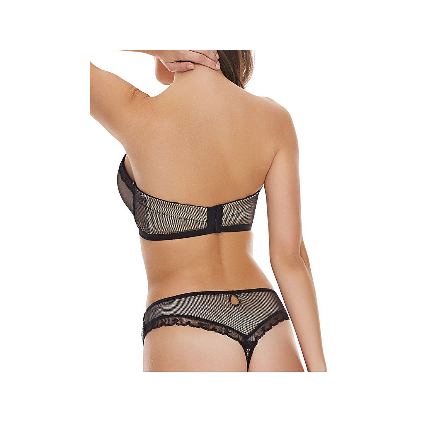 BuyFreya Idol Allure Moulded Strapless Bra, Black, 30DD Online at johnlewis.com
