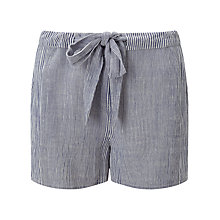 Buy Phase Eight Stripe Shorts, Soft Blue Online at johnlewis.com