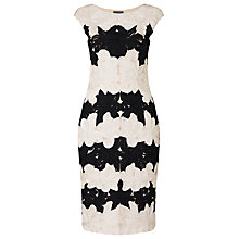 Buy Phase Eight Celeste Tapework Dress, Black/Cameo Online at johnlewis.com
