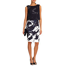 Buy Phase Eight Della Layered Dress, Navy/Ivory Online at johnlewis.com