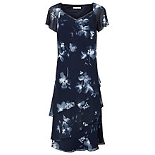 Buy Jacques Vert Layered Print Dress, Navy/Multi Online at johnlewis.com