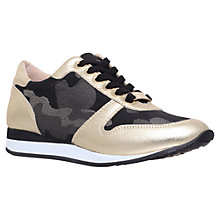 Buy Carvela Libby Lace Up Trainers, Gold Comb Online at johnlewis.com