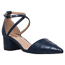Buy Miss KG Ava Cross Strap Court Shoes, Navy Online at johnlewis.com