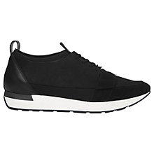 Buy Whistles Jasper Lace Up Runner Trainers, Black Online at johnlewis.com