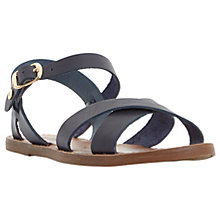 Buy Dune Laila Cross Vamp Leather Sandals Online at johnlewis.com