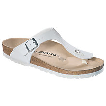 Buy Birkenstock Gizeh Toe Post Sandals, White Online at johnlewis.com