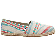 Buy TOMS Alpargata Flat Slip On Espadrilles, Pale Pink Online at johnlewis.com