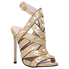 Buy Carvela Goldie Occasion Embellished Stiletto Sandals, Gold Online at johnlewis.com
