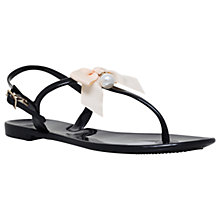 Buy Miss KG Dante Bow Toe Post Sandals, Black Online at johnlewis.com