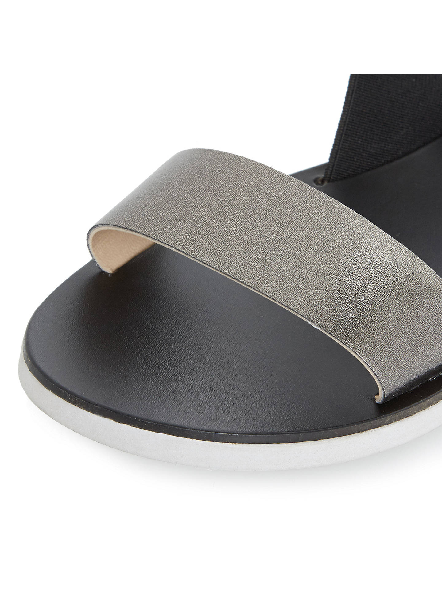 BuyDune Lacer Slip On Sandals, Black, 3 Online at johnlewis.com