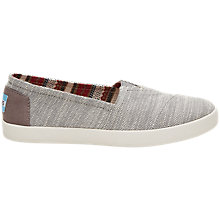 Buy TOMS Avalon Slip On Plimsolls Online at johnlewis.com