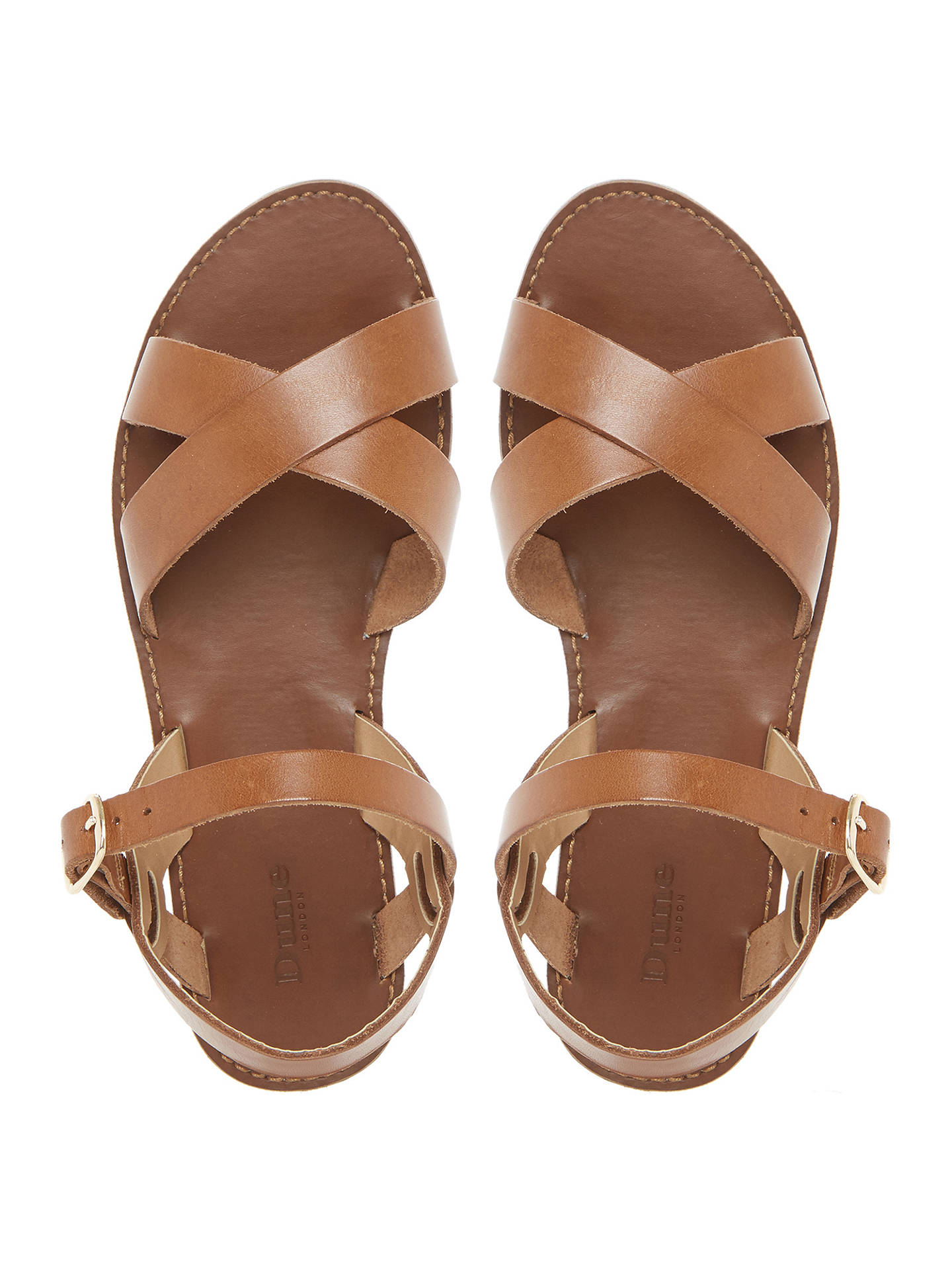 60d9a83c2b832e ... Buy Dune Laila Cross Vamp Leather Sandals
