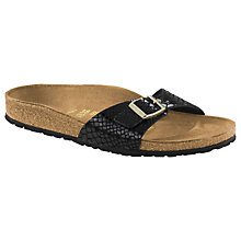 Buy Birkenstock Madrid Slip On Sandals, Black Reptile Online at johnlewis.com