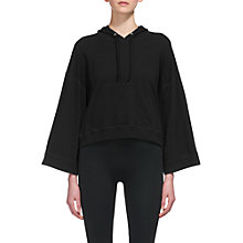 Buy Whistles Relaxed Slub Hoody, Black Online at johnlewis.com
