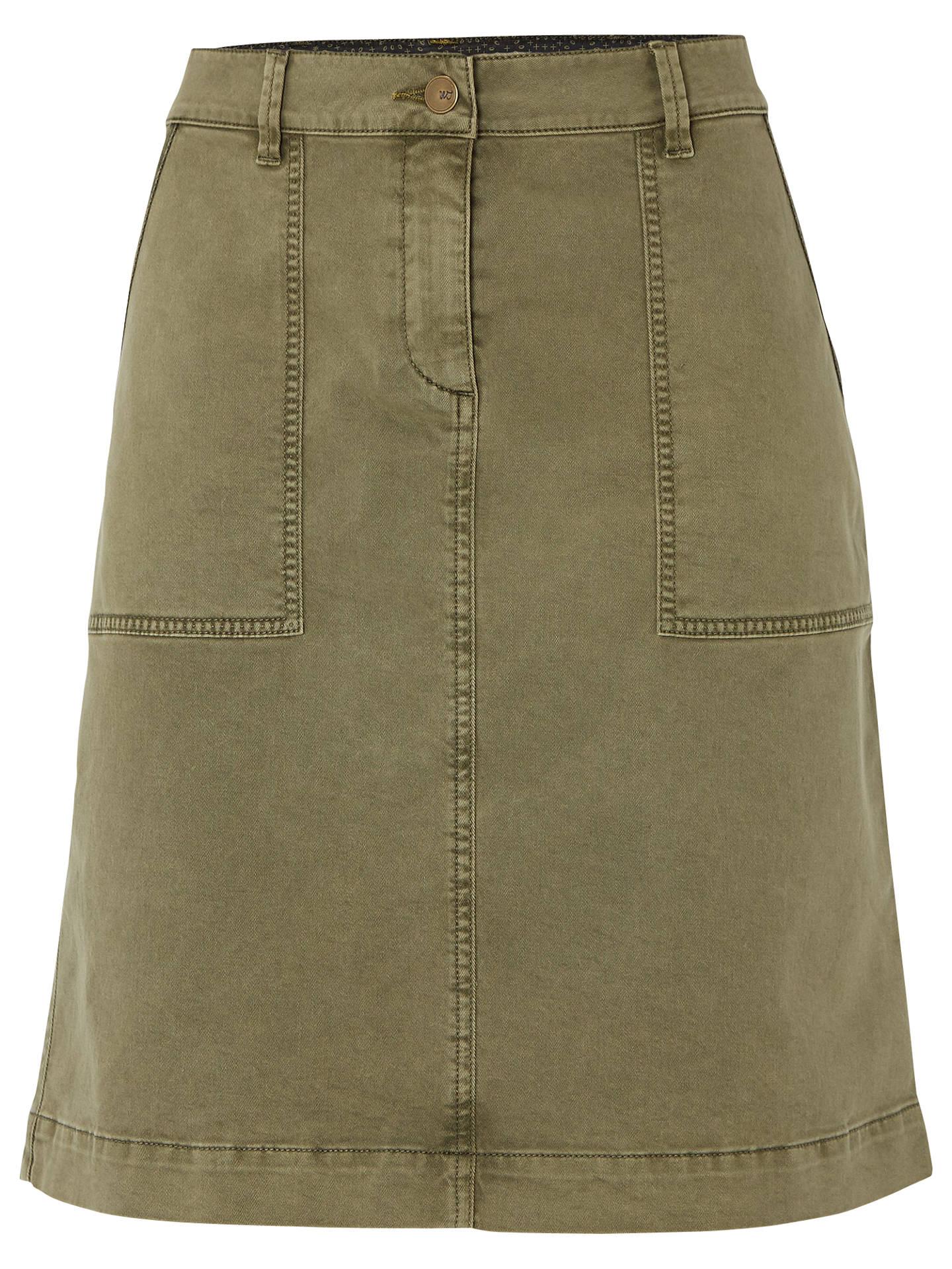 25c518f1c6 Buy White Stuff Bessie Chino Skirt, Khaki, 6 Online at johnlewis.com ...