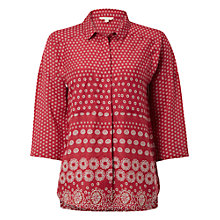 Buy White Stuff Adzuki Printed Shirt, Adzuki Red Online at johnlewis.com