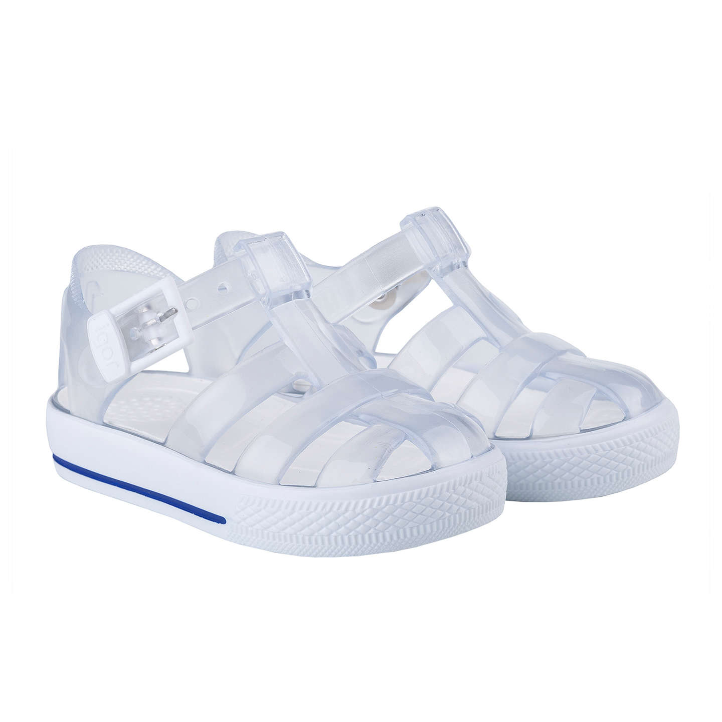 BuyIGOR Children's Tenis Jelly Shoes, White, 19 Online at johnlewis.com