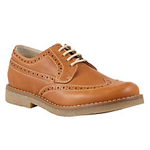 Buy John Lewis Heirloom Collection Boys' William Brogue Shoes, Tan Online at johnlewis.com