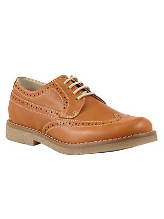 John Lewis & Partners Heirloom Collection Children's William Brogue Shoes, Tan