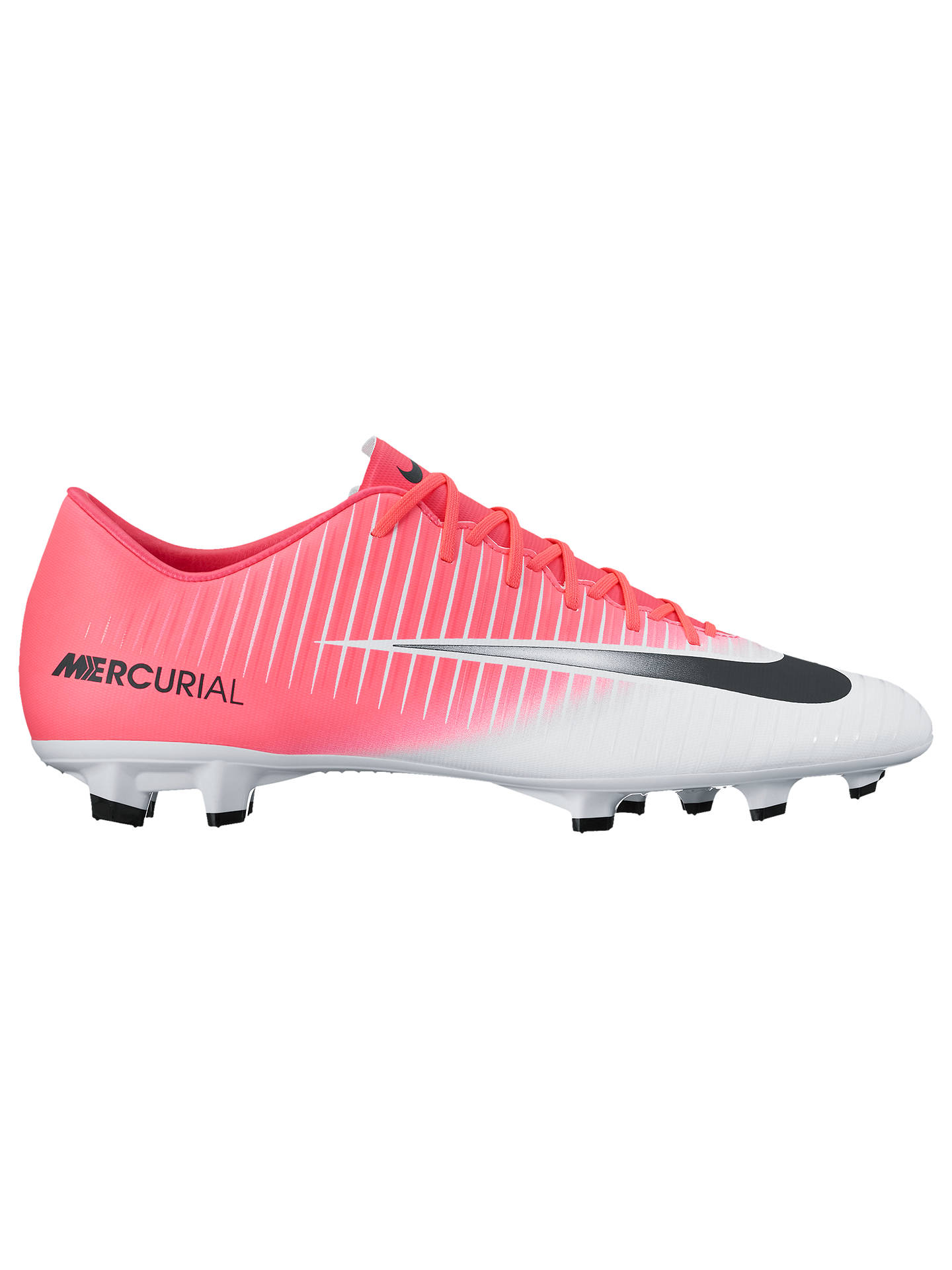 deadb7e45678 Buy Nike Mercurial Victory VI FG Men's Football Boots, Pink/White, 7 Online  ...