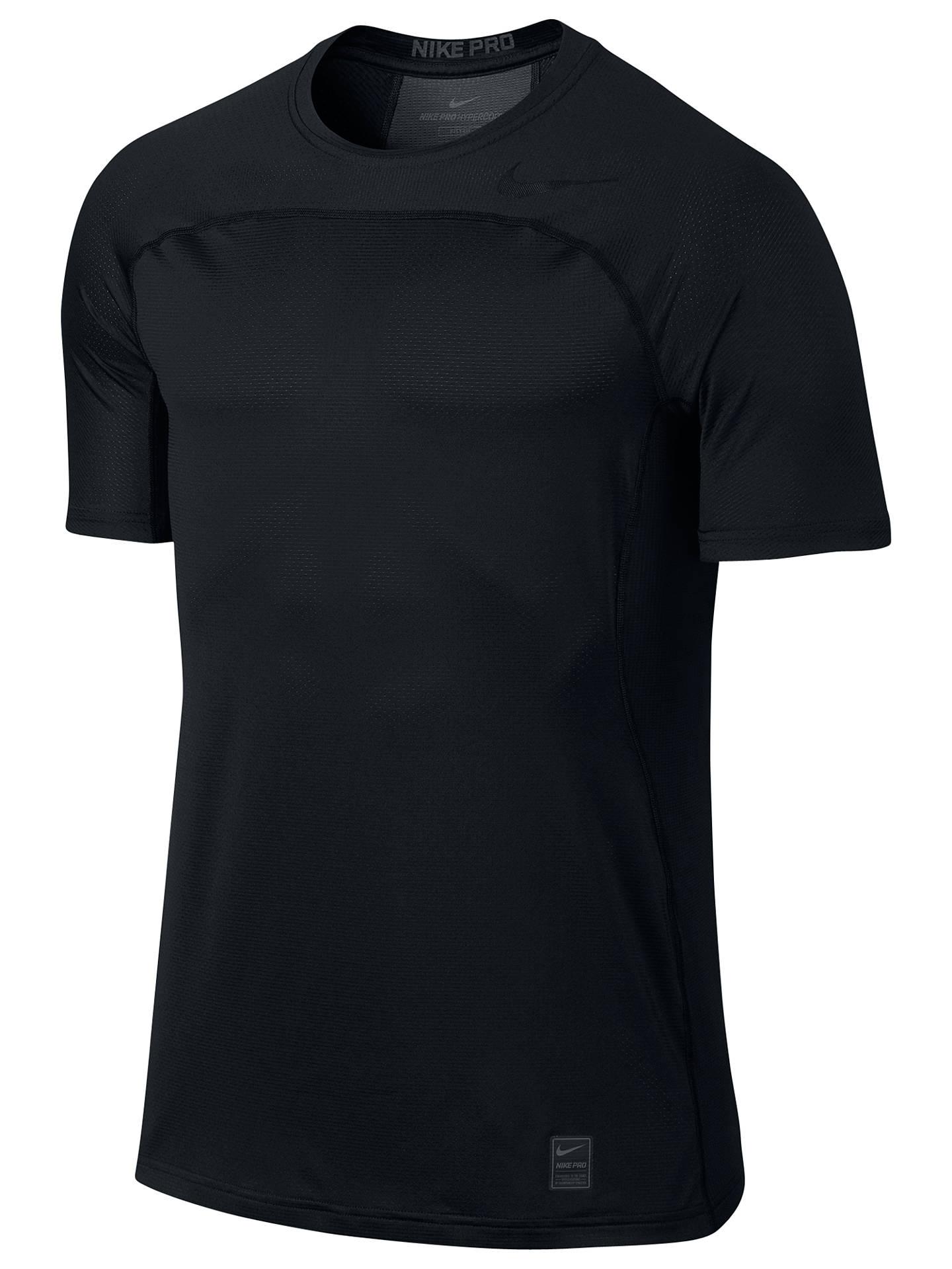 30975ef04 Buy Nike Pro Hypercool Training Top, Black, S Online at johnlewis.com ...