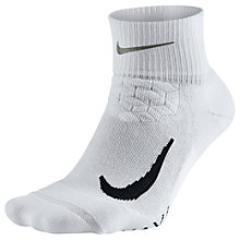 Buy Nike Unisex Elite Cushion Quarter Running Socks Online at johnlewis.com