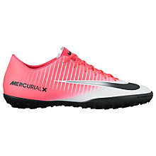 Buy Nike MercurialX Victory VI Men's Turf Football Boots, Pink/Multi Online at johnlewis.com