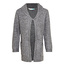 Buy John Lewis Girls' Long Lined Cardigan, Grey Online at johnlewis.com