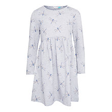 Buy John Lewis Girls' Dragonfly Dress, Grey Marl Online at johnlewis.com