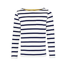 Buy John Lewis Girls' Breton Stripe Top Online at johnlewis.com