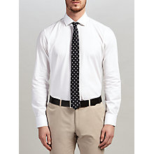 Buy HUGO by Hugo Boss C-Gordon Chevron Weave Regular Fit Shirt, Open White Online at johnlewis.com